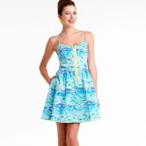 Lilly Pulitzer High Tide Toile Alexis dress